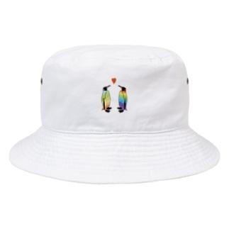 虹色ペンギンLOVE Bucket Hat