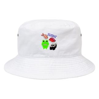 お寿司を楽しむカエルくん Bucket Hat