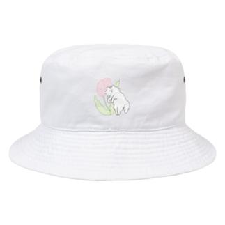ピンクのチューリップ Bucket Hat