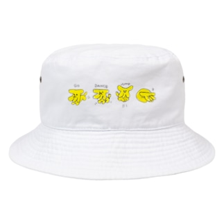 バナナ犬×4 Bucket Hat