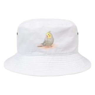 まめるりはことりのオカメインコ シナモン【まめるりはことり】 Bucket Hat