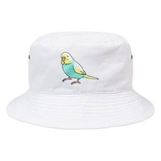 まめるりはことりのごきげんセキセイインコ【まめるりはことり】 Bucket Hat