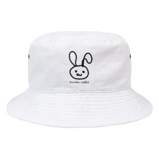 Doodle rabbit Bucket Hat
