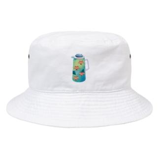 夢の給湯ポット 中国茶 Bucket Hat