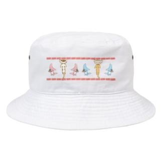 餃子とディプロカウルス Bucket Hat