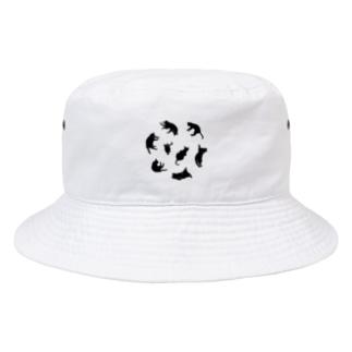 Kitties (Black Bucket Hat