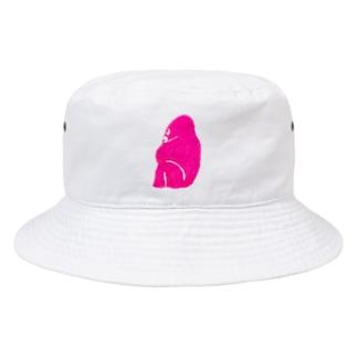 関係ないから楽しいピンクのゴリラ Bucket Hat