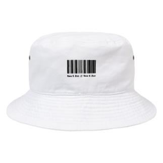 a fictional barcode Bucket Hat