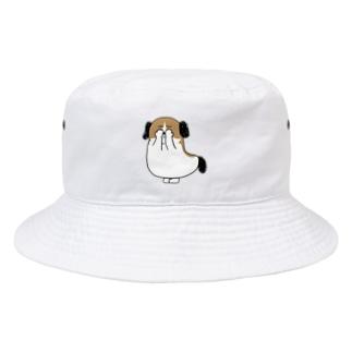 もじゃまる目隠し Bucket Hat