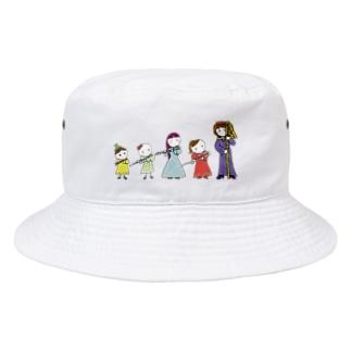 フルートファミリーwithアフロ女子 Bucket Hat