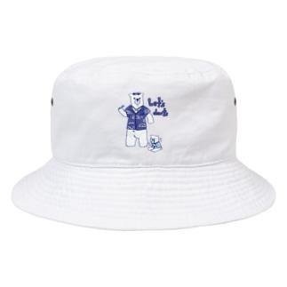 ダーツする白熊さん🎯 Bucket Hat