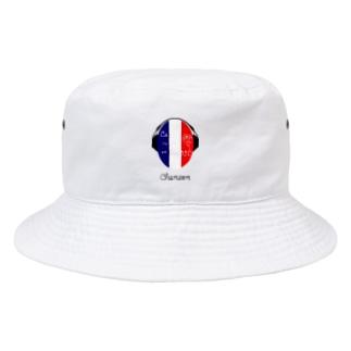 シャンソン ヘッドホン フランス chanson france La Vie en Rose Bucket Hat