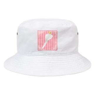 オカメインコ ハートルチノーオカメインコ【まめるりはことり】 Bucket Hat