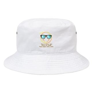 サングラス×スマイル🕶(オレンジ) Bucket Hat