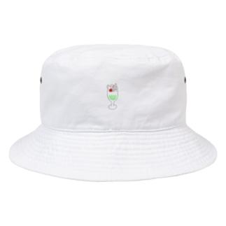 メロンソーダパフェ Bucket Hat