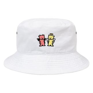 てんしくまとあくまくま Bucket Hat
