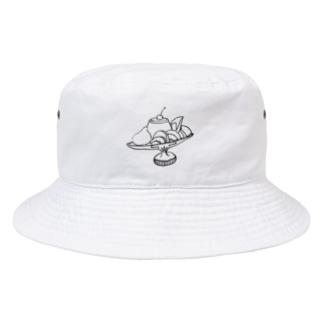 プリン・ア・ラ・モード 全透過 Bucket Hat