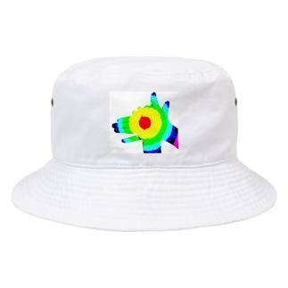 landshidekiのハンドドック Bucket Hat