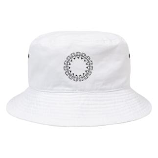 えんぴつの輪_黒 Bucket Hat
