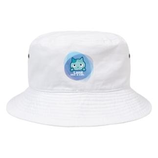 Land like a cat blue 〜 夙川育ち Bucket Hat