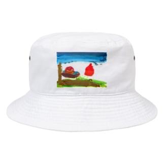 朝日 Bucket Hat