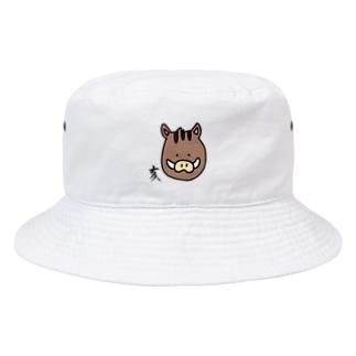 あおい¨̮♪の亥 いのしし Bucket Hat
