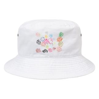 虹色のばら Bucket Hat