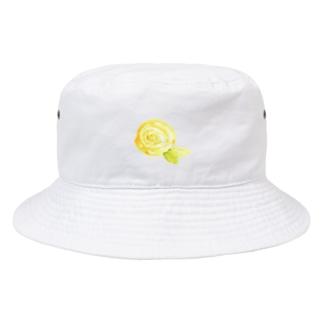 黄色のバラ Bucket Hat