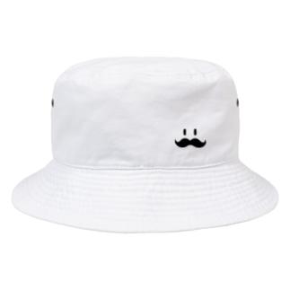 トシゾーのSUZURIのとこのヒゲ(黒)ワンポイント Bucket Hat