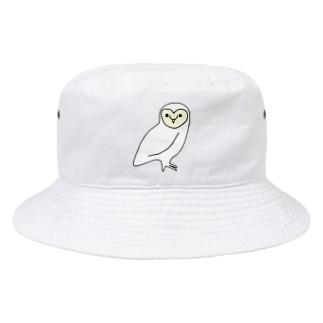 白いメンフクロウ Bucket Hat