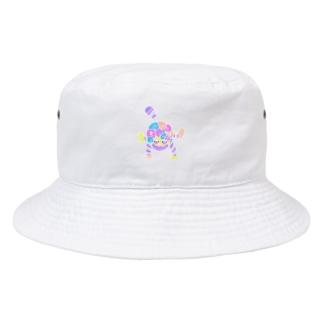 へべれけモンキーのニシカワのいつかの落書き Bucket Hat