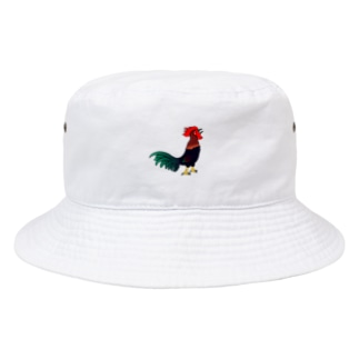 吠えるニワトリ Bucket Hat