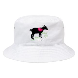 ナナヨショップの食いしん坊ヤギ Bucket Hat