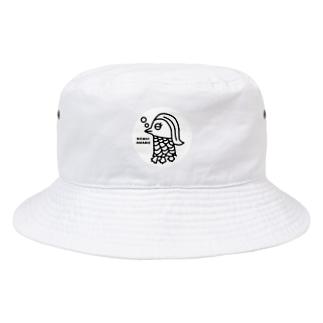 エクレアンショップの眠いアマビエ Bucket Hat