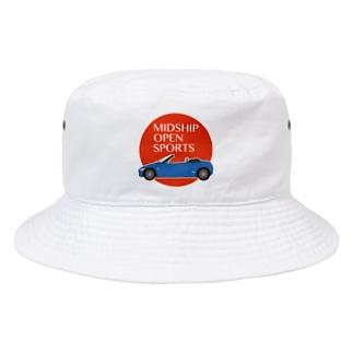 Puuun Shopの青いオープンカー Bucket Hat