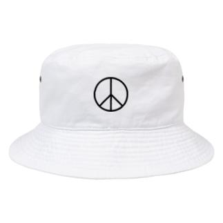 カマラオンテのピースマーク 平和 Peace symbols 平和運動や反戦運動のシンボルとして世界中で使われているマーク Bucket Hat