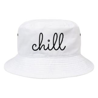 ちる ロゴ ✨値下げ中!!!! chill Bucket Hat