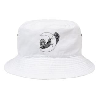 星と月《starry sky》 Bucket Hat