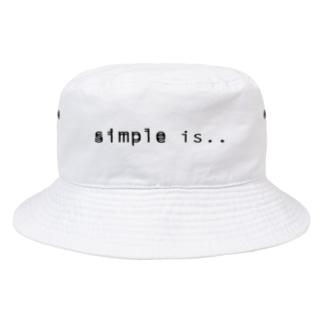 m__aのsimple is.. Bucket Hat