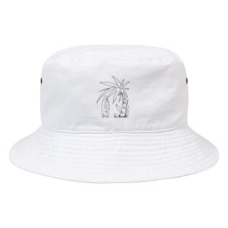 ヤシの木とサーフボード Bucket Hat