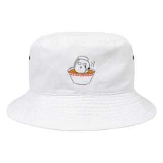 ラーメンに浸かる美顔たまご Bucket Hat