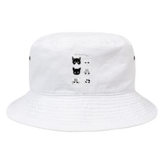 ねこだらけグッズ Bucket Hat