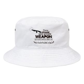どっかーん黒 Bucket Hat
