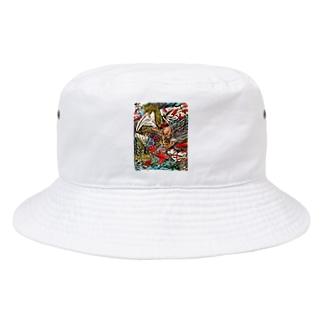 ガゴゼ(元興寺の鬼退治) Bucket Hat