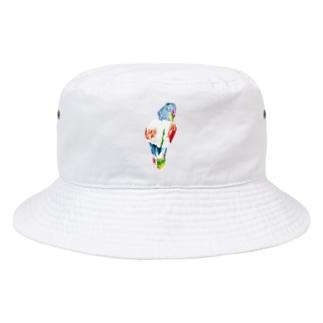 KAERUCAFE SHOPのとりさん Bucket Hat