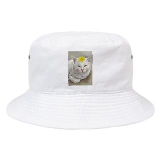 kinako-japanのしーちゃん たんぽぽのせて Bucket Hat