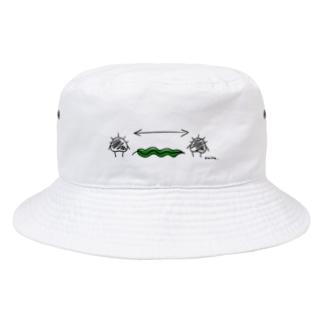 ソーシャルディスタンスウニら Bucket Hat