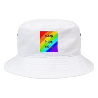 keep hope alive (希望を持って生きる) Bucket Hat