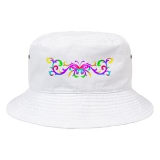 いろどり屋さんのトライバル・バタフライ Bucket Hat