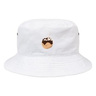 ポツンとたこやき Bucket Hat